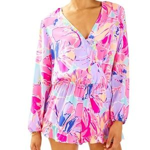 Lilly Pulitzer Fanning Romper - Jam Out